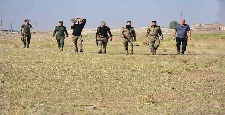 مكافحة متفجرات الحشد ترفع صواريخ انفلاقية شرق نينوى