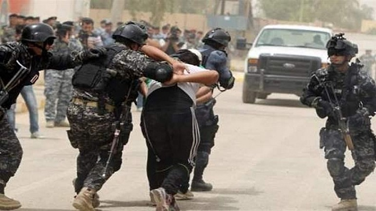 القوات الأمنية تعتقل 10 أشخاص بتهمة الشجار على (حمامة) في الناصرية