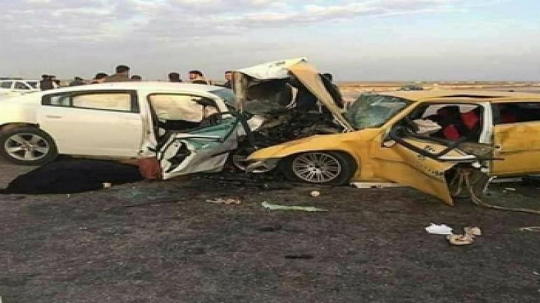 مصدر طبي: مصرع وإصابة 13 شخصا في حادثين منفصلين غرب الناصرية