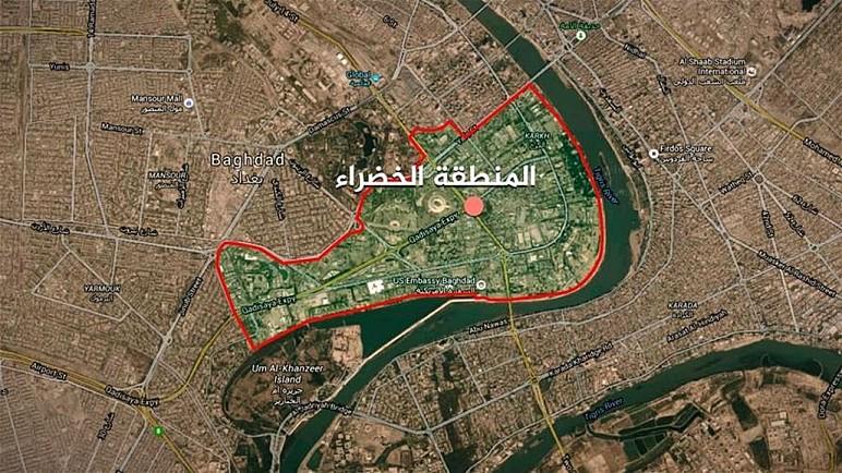 تعرض المنطقة الخضراء وسط بغداد الى قصف صاروخي