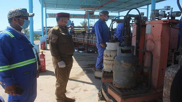شرطة ذي قار: اخذنا تعهدات خطية من معامل الغاز الاهلية بعدم التلاعب بالاسعار