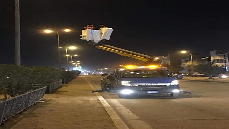 الكهرباء تنجز إعمال صيانة 150 تركيب إنارة في شوارع الناصرية