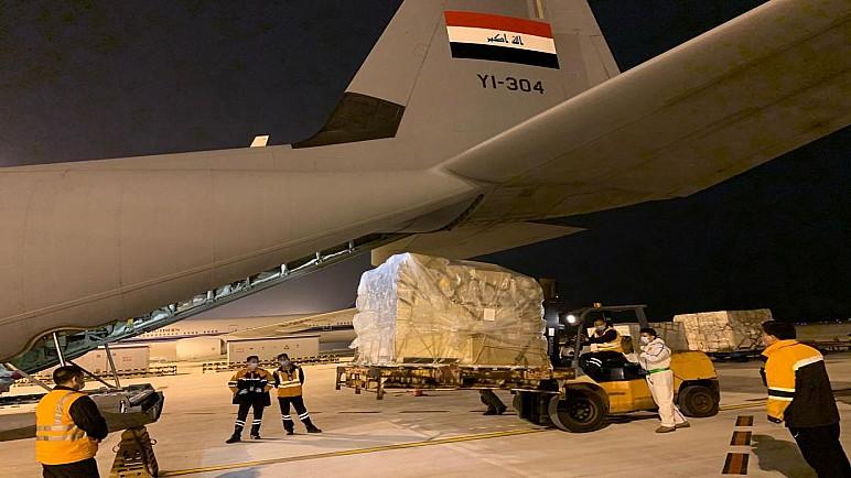 بالصور.. طائرة الشحن العراقية تبدأ في الصين بشحن المستلزمات الطبية الخاصة لمكافحة كورونا