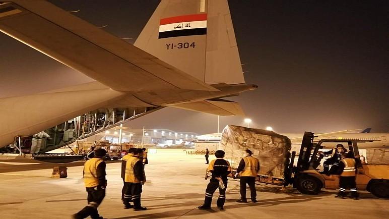 الصين ترسل 18 طنا من المساعدات اﻟﺨﺎﺻﺔ ﺑﺎﻟﻮﻗﺎﻳﺔ من كورونا الى العراق