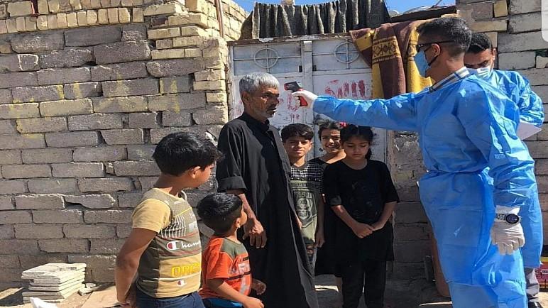 بالصور … صحة ذي قار تُنظم حملات تثقيف ومسح ميداني عن فايروس كورونا في مناطق الناصرية