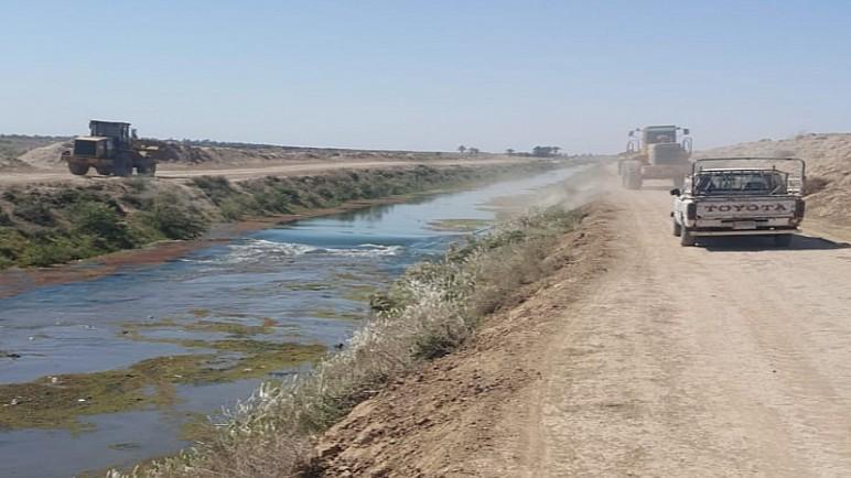 الموارد المائية في ذي قار : المباشرة باعمال تطهير شط الكسر