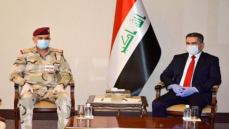 رئيس الوزراء المكلف يستقبل رئيس اركان الجيش ويبحثان مجمل الاوضاع الامنية