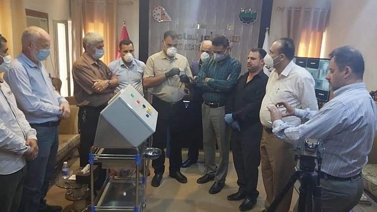 بالصور.. ذي قار تصنع جهازا طبيا لأول مرة في العراق لمواجهة فايروس كورونا
