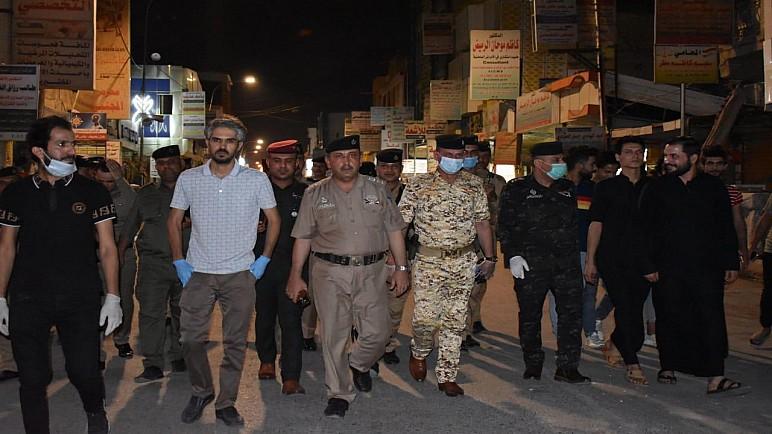 بالصور …اجراءات امنية مشددة لتأمين ساحة التظاهر في الحبوبي وسط الناصرية