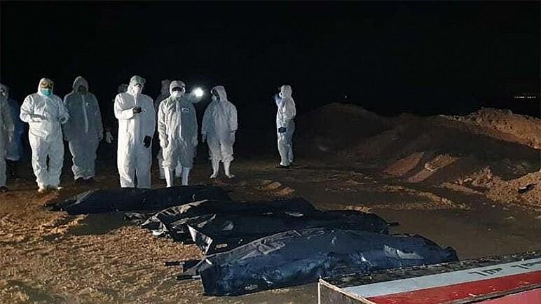 طبابة الحشد تدفن 26 متوفيا بكورونا من اهالي ذي قار خلال 24 ساعة