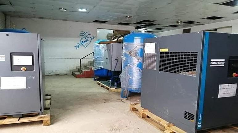 بالصور .. وصول منظومة اوكسجين متطورة من العتبة العباسية الى مستشفى الحسين التعليمي