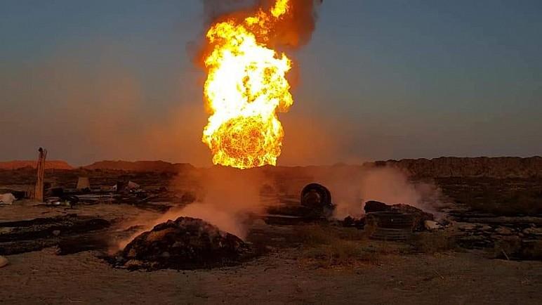 مسؤول ممثلية الحشد : انفجار انبوب الغاز بالمثنى بطائرة مسيرة