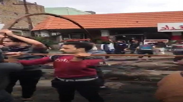 مصدر : متظاهرون يعيدون نصب الخيام مجددا في ساحة الحبوبي