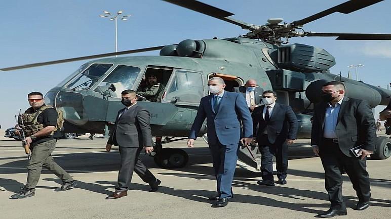 وزير الداخلية عثمان الغانمي يصل الى منفذ عرعر الحدودي