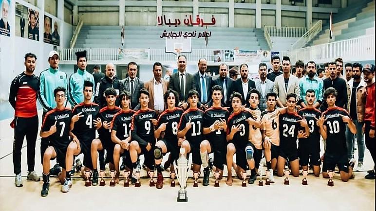 نادي الجبايش لكرة الطائرة لفئة الناشئين يحصل على لقب بطولة العراق